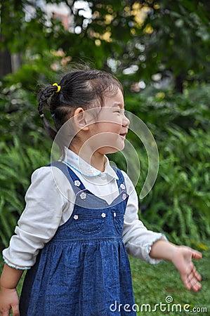 An active little girl Stock Photo