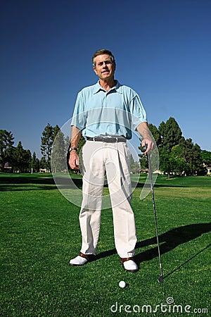 Free Active Mature Man Golfer Stock Photos - 5862663