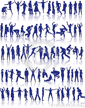 Active people icon set