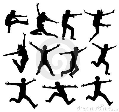 Free Active People Silhouette Royalty Free Stock Photography - 15392627