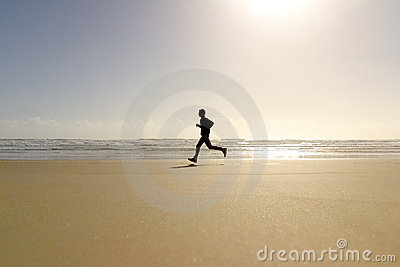 Active Run Man Beach