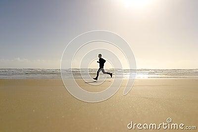 Active Run Man Beach