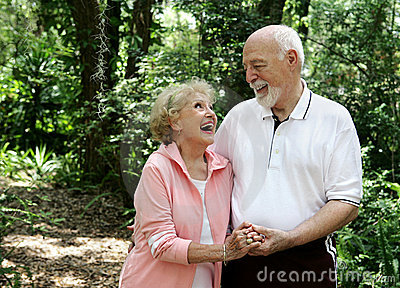 Active Senior Couple Copyspace
