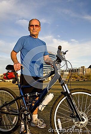 Active Senior Cyclist
