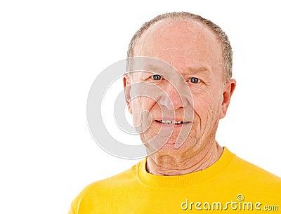 Active senior man. Portrait