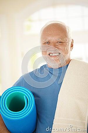 Active senior in sportswear