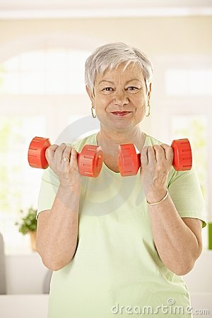 Free Active Senior Woman Doing Exercises Stock Photography - 23242472