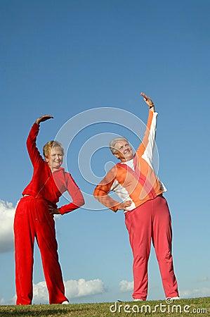 Active senior women