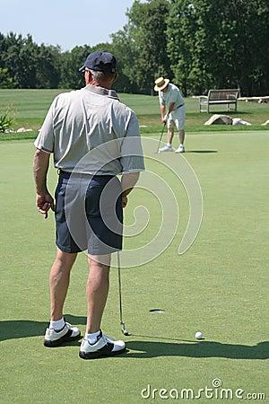 Active Seniors Golfing