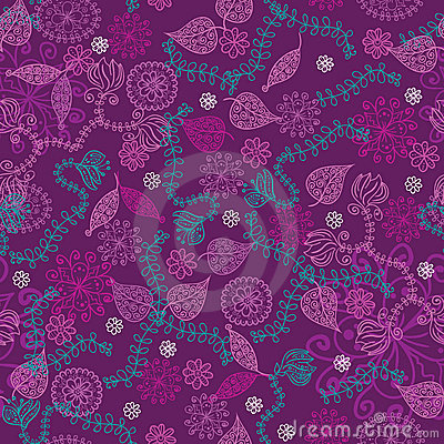 Active violet fantastic seamless pattern