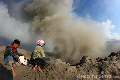 Active volcano Editorial Image