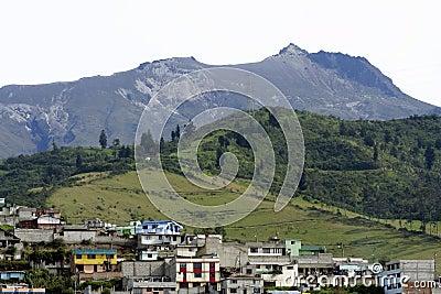 Active volcano above Quito, Ecuador