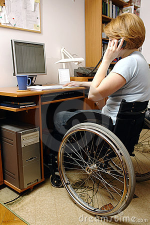 Free Active Wheelchair Woman Royalty Free Stock Image - 4819556