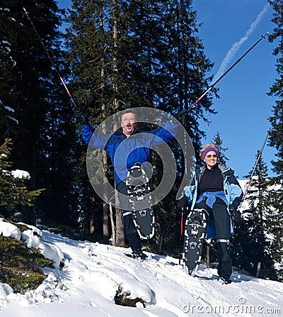 Active winter seniors