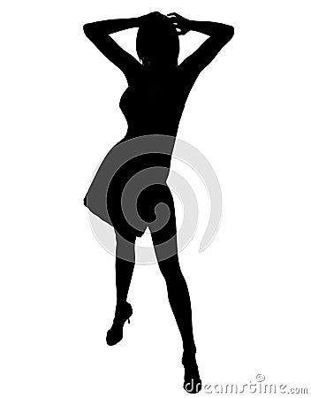 Active woman illustration