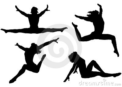 Active Woman Silhouettes