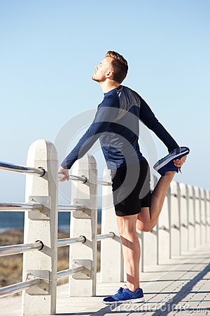 Free Active Young Man Standing On One Legs Stock Photos - 86252373