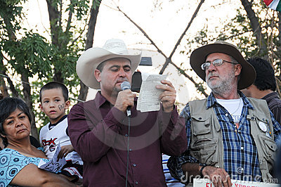 Activists Javier Sicilia and julian Lebaron Editorial Photo