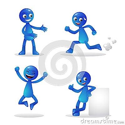 Activité bleue 1 de personne