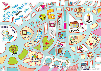 Activities map for kids