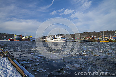 Activity at the port of Halden
