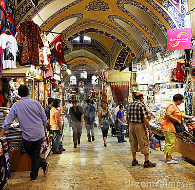 Activity and trading Grand Bazaar Istanbul Editorial Photo