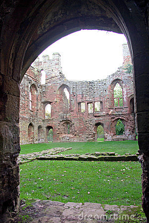 Acton Burnell Castle through Doorway.