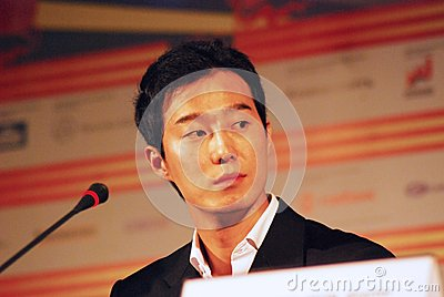 Korean Actor Choi Sung Ho at the press-conference of 35th Moscow ...
