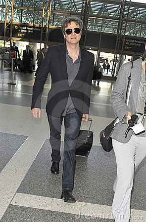 Actor Colin Firth is seen at LAX Editorial Stock Image