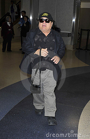 Actor Danny Devito is seen at LAX Editorial Image