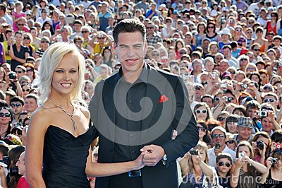 Actor Dmitry Dyuzhev and his wife Tatiana Editorial Photo