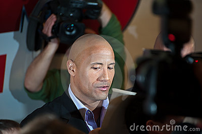 Actor Dwayne (The Rock) Johnson in Moscow Editorial Photography