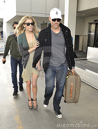 Actor Eddie Ciprian & Leanne Rimes at LAX airport Editorial Photography