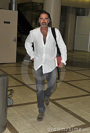 Actor Jeff Fahey is seen at LAX Editorial Stock Photo
