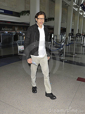 Actor Jeff Goldblum is seen at LAX Editorial Stock Image