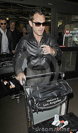 Actor Jude Law at LAX airport Editorial Image