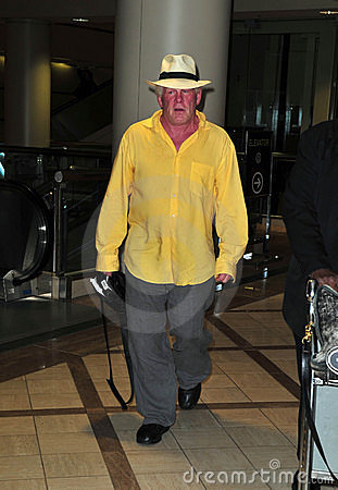 Actor Nick Nolte at LAX airport Editorial Photo