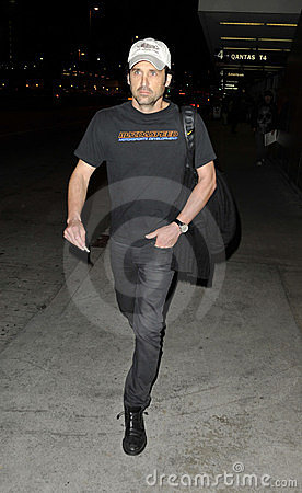Actor Patrick Dempsey at LAX airport Editorial Photo