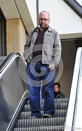 Actor Paul Giamatti at LAX airport Editorial Photo