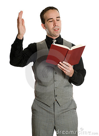 Actor Reading His Script