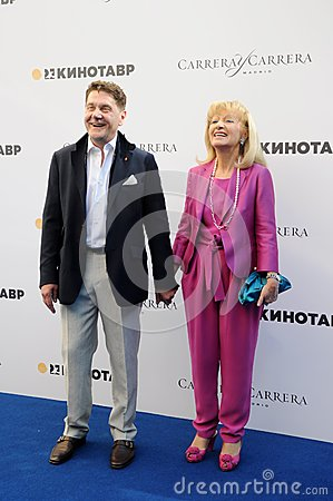 Actor Sergei Makovetsky with his wife Elena Editorial Photo