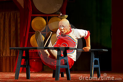 Actor of the Sichuan Opera Troupe Editorial Stock Photo