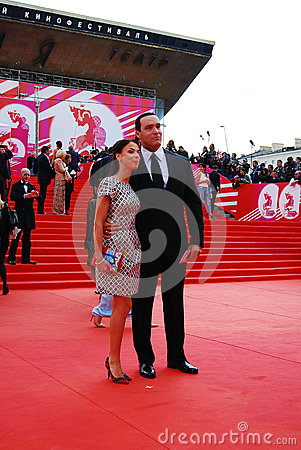 Actor, sportsman Alexander Nevsky at XXXVI Moscow International Film Festival Editorial Stock Image