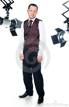 Actor In A Studio Royalty Free Stock Photo - Image: 18765065