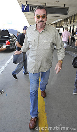 Actor Tom Selleck at LAX airport Editorial Stock Photo