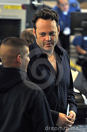 Actor Vince Vaughn is seen at LAX airport Editorial Photography