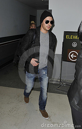 Actor Zac Efron at LAX airport Editorial Photo