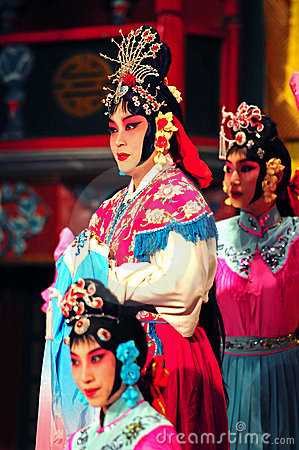 Actors of the Beijing Opera Troupe Editorial Photo
