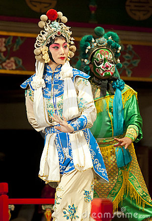 Actors of the Beijing Opera Troupe Editorial Photography