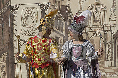 Actors of medieval theater Editorial Photography